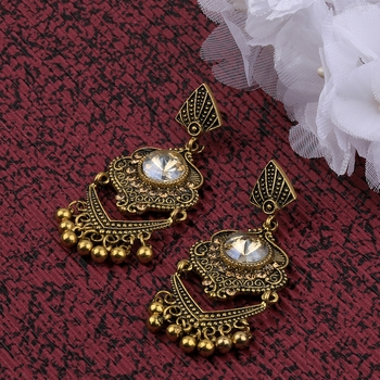 Exclusive Patry Wear Gold Plated Traditional Earring For Women Girl