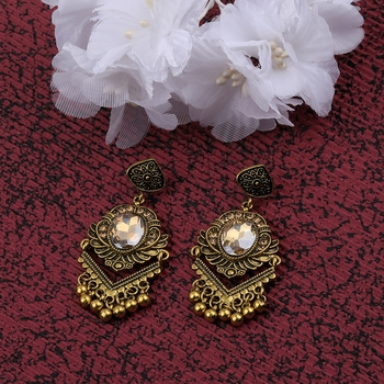 Atrractive Delicated Patry Wear Golden Dangle Earring For Women Girl