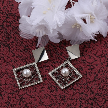 Party Wear Silver Plated Different Look Earring For Women Girl
