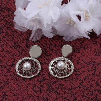 Fashion Stylish Silver Fancy look Drop Earring For Women Girl