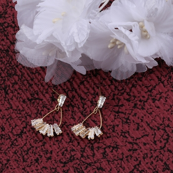Gold Plated Charm Stylish Stud Earring For Women Girl