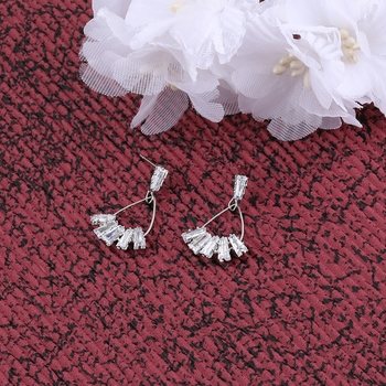 Silver Plated Party Wear Stylish Stud Earring For Women Girl