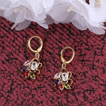 Gold Plated Charm Stylish Bali Earring For Women Girl