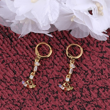 Gold Plated Charm Party Wear Bali Earring For Women Girl