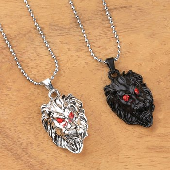 Silver Plated Stylist Chain With Lion Design Combo Chain pendant For Man Boys-2piece