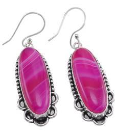 Pink onyx earrings