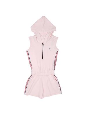 Pink Plain Cotton Girls Dresses