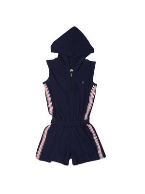 Black plain cotton girls-dresses