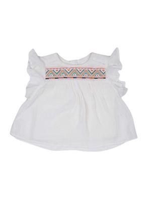 White plain cotton kids-tops