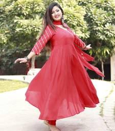 Stylish women Rayon Kurti pillazo Set with heavy designer Duppata