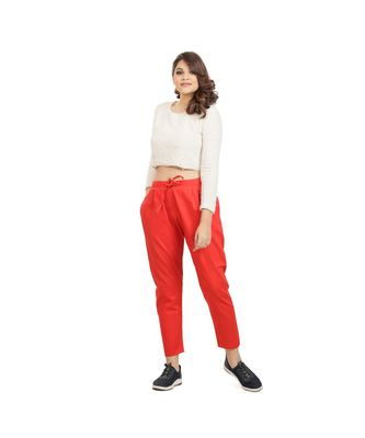 Tomato Red Comfort Pant