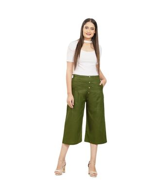 Olive Green Cotton Qullote
