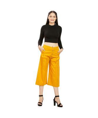Mustard Yellow Cotton Qullote