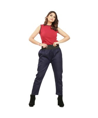 Navy Blue Denim Tummy Tucker Pant