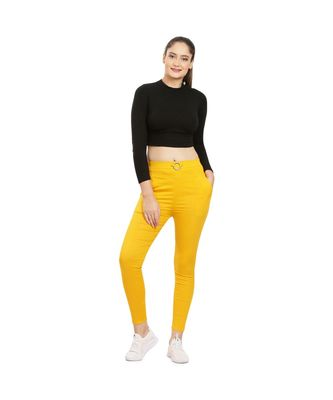 Yellow Fitting Jeggings