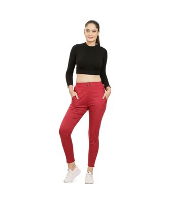Marroon Fitting Jeggings