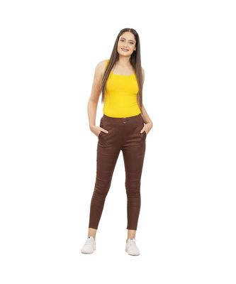 Brown Fitting Jeggings