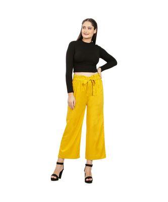 Mustard Yellow Knot Parellel Pant