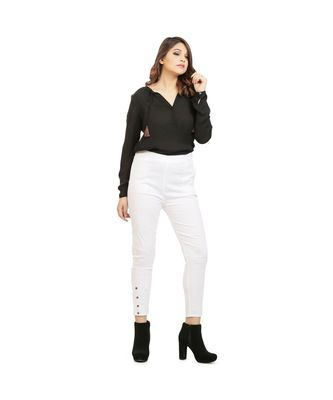 White Nickle Stretch Pant