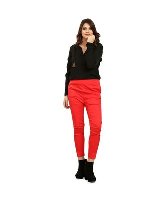 Red  Nickle Stretch Pant