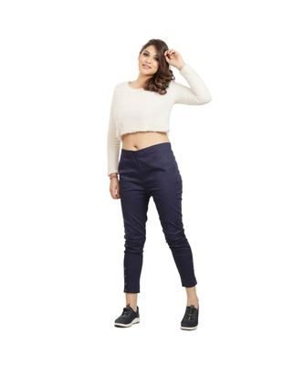 Navy Blue Nickle Stretch Pant