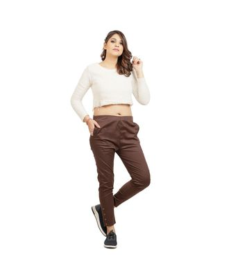 Brown Nickle Stretch Pant