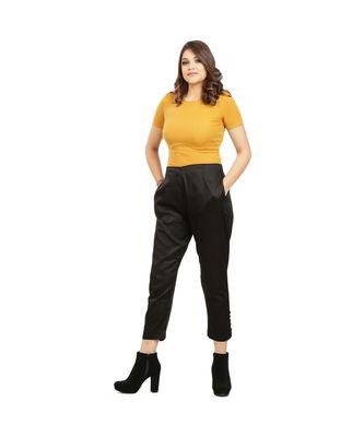 Black Tussar Pants