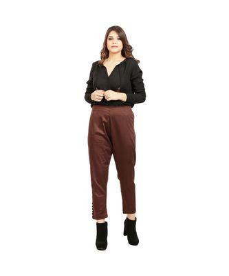 Brown Tussar Pants