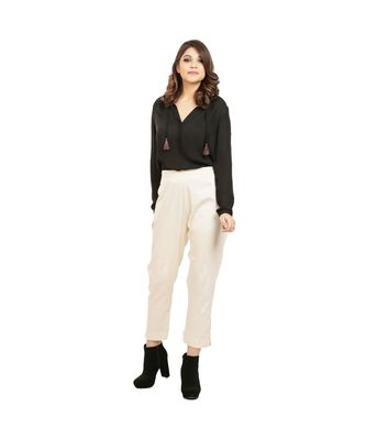 Off Tussar Pants