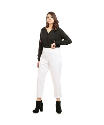 White Tussar Pants