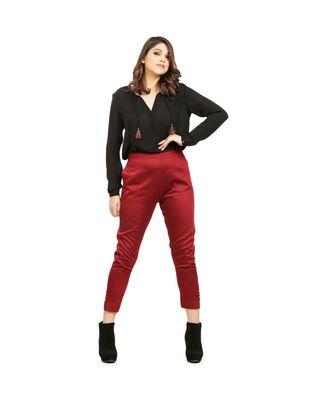 Marroon Tussar Pants