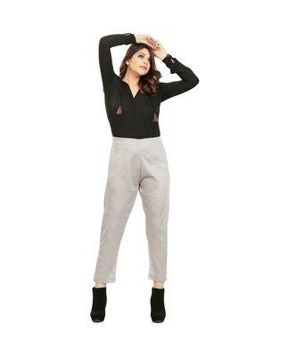 Light Grey Tussar Pants