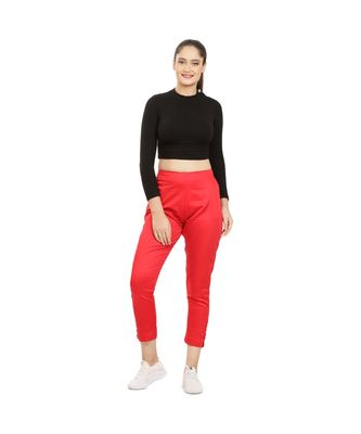 Red Tussar Pants