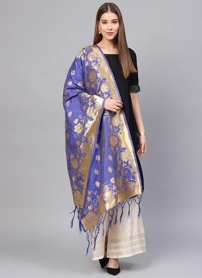 Women purple Color Woven Traditional Dupatta