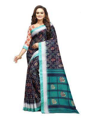 Women's multicolor Pure linen Printed Designer Saree