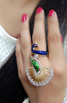 Peacock Style Fashionable Ring