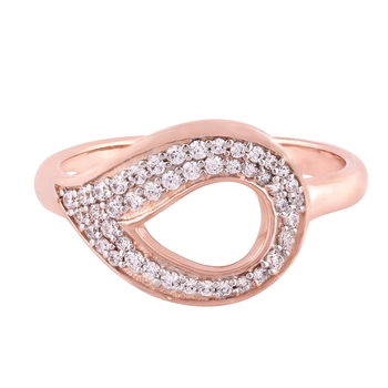 Rose Gold Plated Cubic Zirconia Women Ring