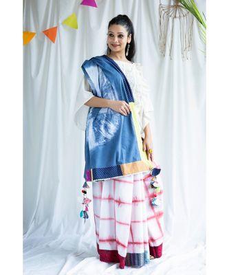 Gulrez printed Cotton Sari