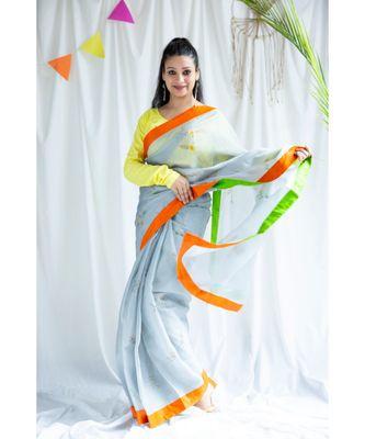 Umair printed Cotton Sari
