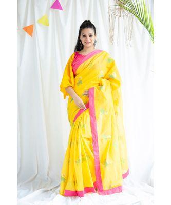 Hamza printed Cotton Sari