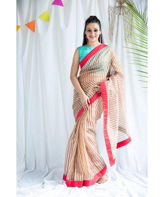 Nusrat printed Cotton Sari