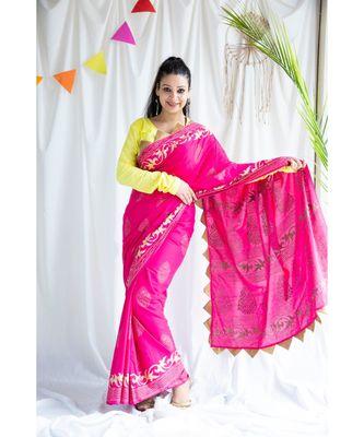 Tazmin printed Cotton Sari