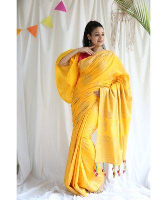 Afsana printed Cotton Sari