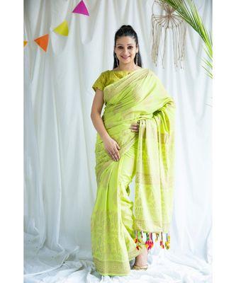 Gulzaar printed Cotton Sari