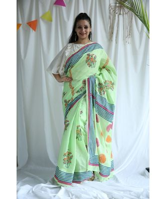Rubee printed Cotton Sari