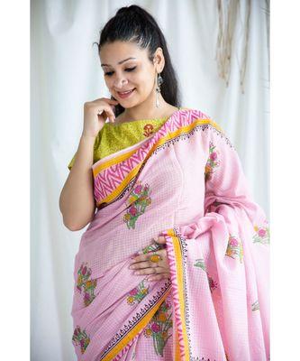 Aatifa printed Cotton Sari