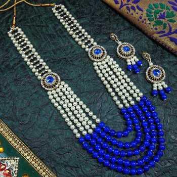 Blue necklaces