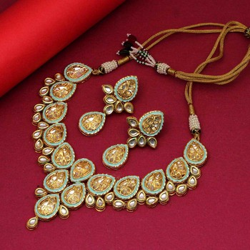 Blue necklace-sets