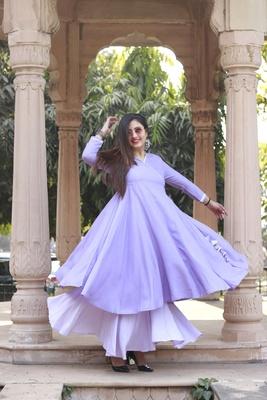 Women's RAYON  Designer Angrakha With sharara Set