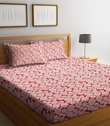 Red striped Cotton bed sheets